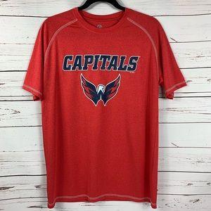 NHL Shirt Washington Capitols Short Sleeve Shirt